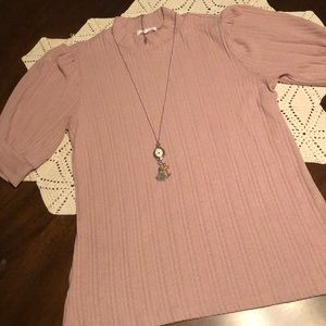 Maurices Mock Neck Pullover Blouse
